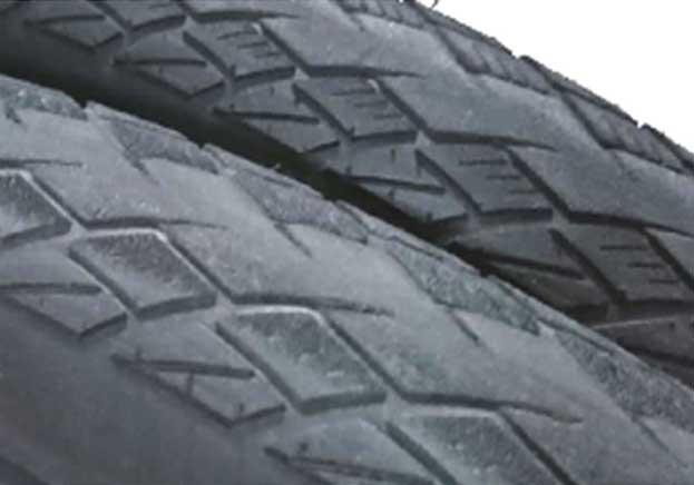 OBOR tread wear results from sandpaper and asphalt testing